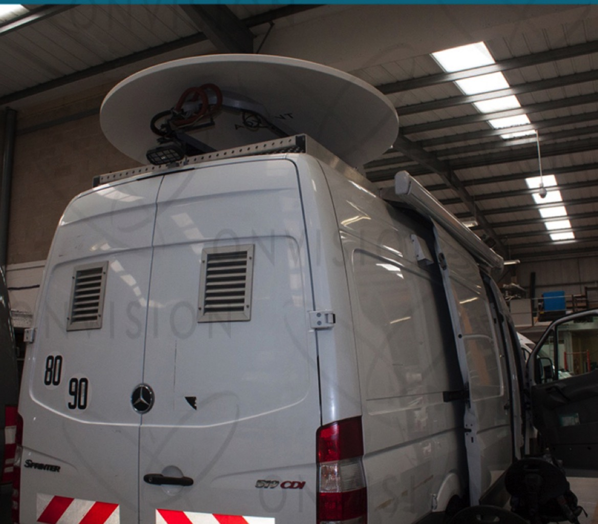 Mercedes 519D Left hand drive HD DSNG with 1.8m Antenna and 3 Cameras